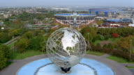 Aerial view of the Unisphere and USTA National Tennis Center / Queens, New York