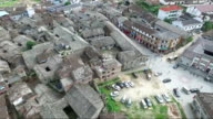Aerial view of the Yiqian Old town located in Guangchang county, Fuzhou City, Jiangxi Province