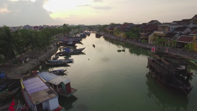 Aerial view of Thu Bon River, Hoi An