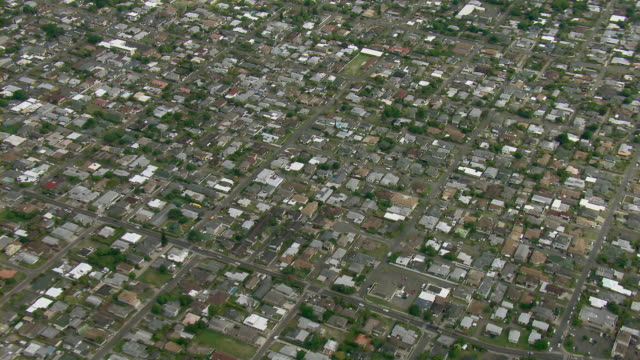 Aerial view of town of Kailua on the Island of Oahu in Hawaii.
