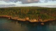 Aerial view of tropical coastline in Camotes, Cebu, Philippines.