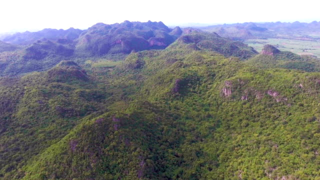 Aerial View of  Tropical Green Mountain