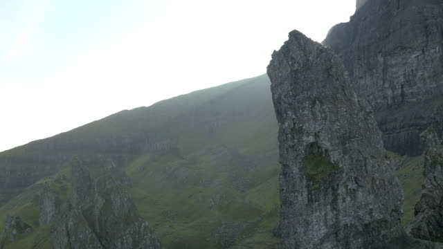 Aerial view of Trotternish Ridge and Old Man