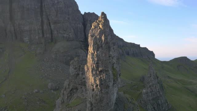 Aerial view of Trotternish Ridge Old Man Skye