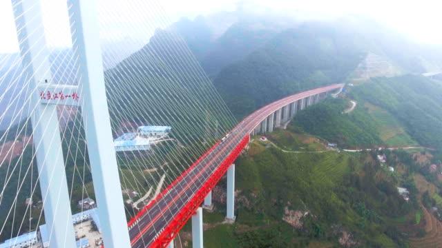 Luftaufnahme der weltweit höchste Hängebrücke, Beipanjiang, Ghuizhou, China