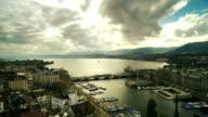 Aerial view of Zurich Lake