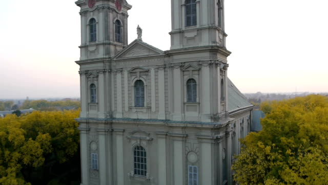 Aerial view on orthodox church