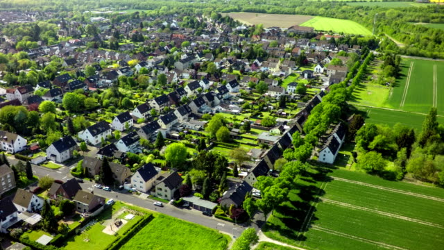 Luchtfoto op dorp in Duitsland