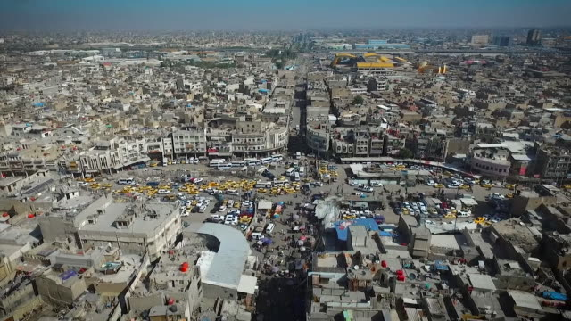 Aerial view over Baghdad Iraq