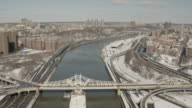 Aerial View Over The Harlem River And Macomb's Dam Bridge In New York City