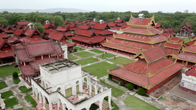 Aerial view over the Mandalay Palace