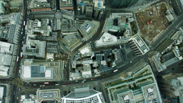 Aerial view overhead of the Walkie Talkie building