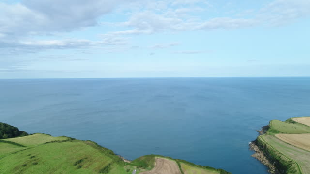 4K Aerial View Panning Over Cleveland Way