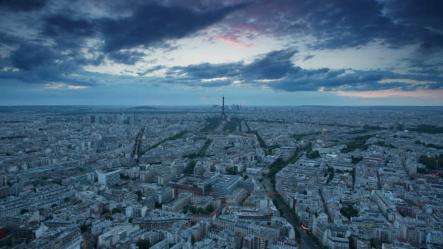 TIME LAPSE: Aerial view Paris