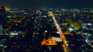 Aerial View : Pattaya Night, Chonburi, Thailand.