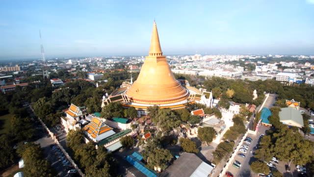 Luftaufnahme Phra Pathom Chedi ist ein stupa in Thailand.