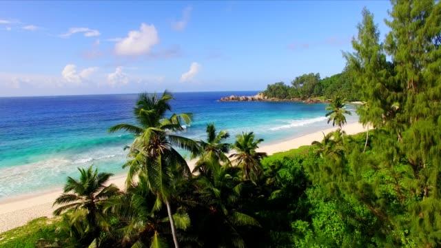 Aerial view: Police Bay, Mahé Island, Seychelles