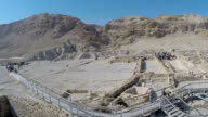 Aerial view, Qumran archaeological site in the West Bank