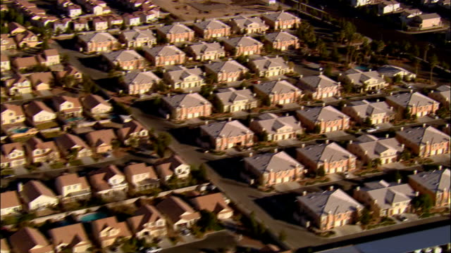 Aerial view rows of tract housing / Las Vegas, Nevada