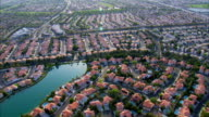 Aerial View Suburban Homes HD