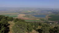 Aerial view- The Hula Valley -view from Ramot Naftali,  Naftali's Horn