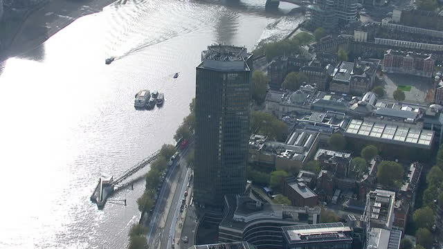 LONDON Aerial Views circling Millbank Tower