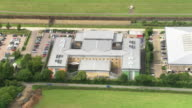 Aerial views of Brook House Immigration Removal Centre