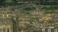Aerial views of Edinburgh ending on Edinburgh Castle