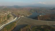 Aerial views of relocation land the Jatigede dam and Pamondokan village in Sumedang Regency West Java Province Indonesia on Saturday September 26...