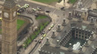 Aerial views of the aftermath of the Westminster terror attack