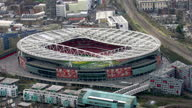 Aerial Views of the Emirates Stadium home of Arsenal Football Club in the English Premier League on February 10 2016 in London England