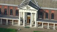 LONDON Aerial Views Royal Hospital Chelsea retirement nursing home for former British soldiers