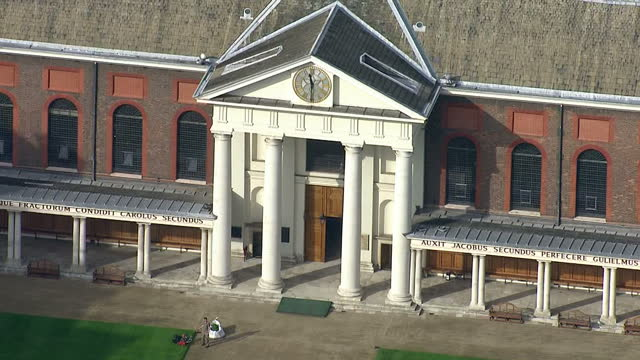 LONDON Aerial Views Royal Hospital Chelsea retirement nursing home for former British soldiers
