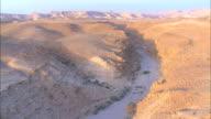 Aerial wadi, Masada, Judea Desert, Israel
