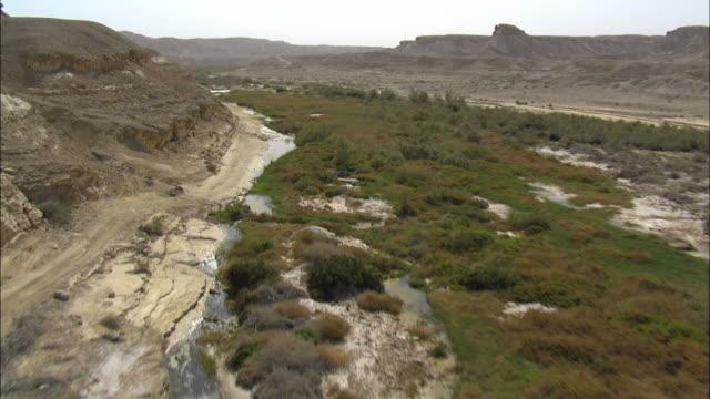Aerial Wadi Zin, Negev Desert, Negev, Israel