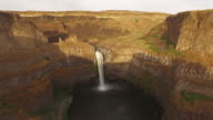 Aerial Washington Palouse Falls