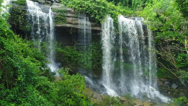 Aerial Waterfall Man Fah Thailand