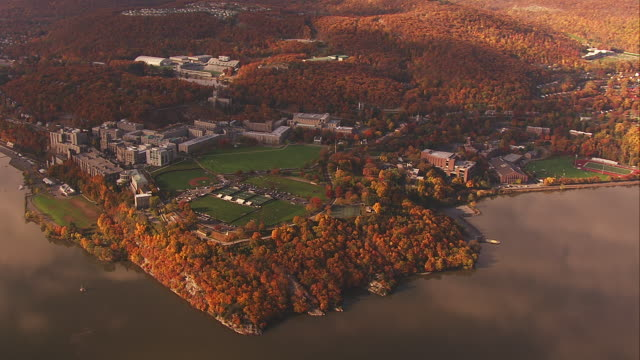 Aerial West Point and Hudson River