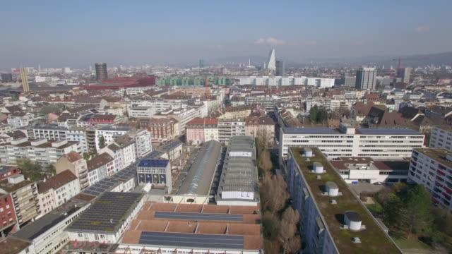 Aerial Wide Shot over Basel