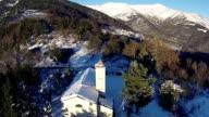 Aerial - Winter in italian Alps