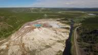 Aerial Wyoming Yellowstone National Park