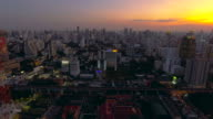 Aerial:Bangkok at night