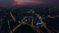 Aerial:Bangkok Traffic in rush Hour