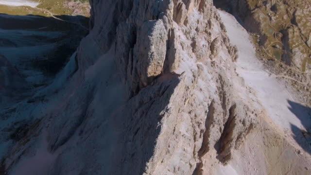 Aerial:Mountain Peak Dolomites italy