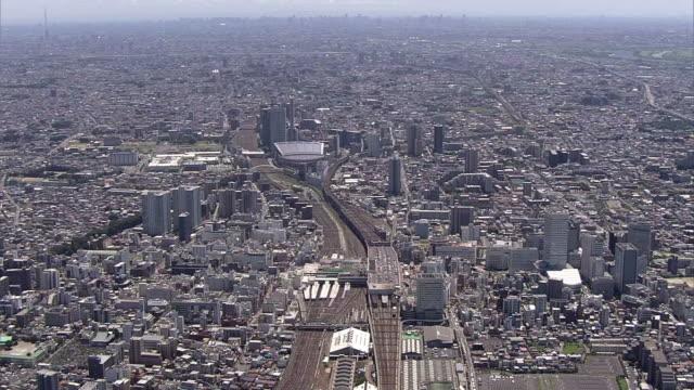 AERIAL,Omiya Station To Saitama New Urban Center, Japan