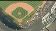 Aerials of Chicago Cubs Wrigley Stadium on June 24 2014 in Chicago