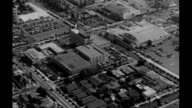 Aerials of Hollywood traveling along Hollywood Boulevard Grauman's Chinese Theater in view Aerials of Hollywood on January 01 1940 in Los Angeles...