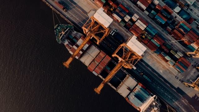 Luftaufnahmen von Thailand Hafenbecken &  Container