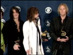 Aerosmith at the 1999 Grammy Awards Backstage at the Shrine Auditorium in Los Angeles California on February 24 1999
