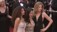Afef Jnifen Evangeline Lilly Doutzen Kroes at the Cannes Film Festival 2009 Vengeance Steps at Cannes